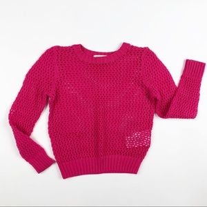 H&M Hot Pink Loose Knit Sweater